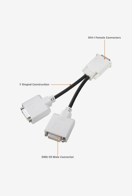 HP 19 DMS59 DVI Dual-head Cable White