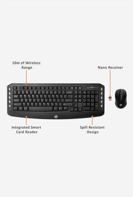 HP Wireless J8F13AA Keyboard and Mouse Black