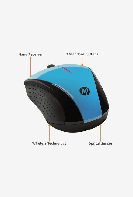 HP X3000 Wireless Mouse Blue