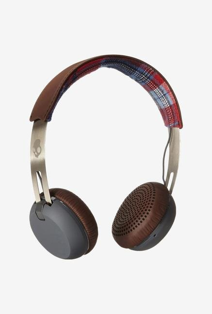 Skullcandy Grind S5GRHT-470 Headphone Americana Plaid Grey