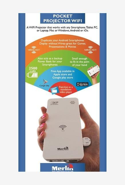 Merlin WIFI Pocket Projector White