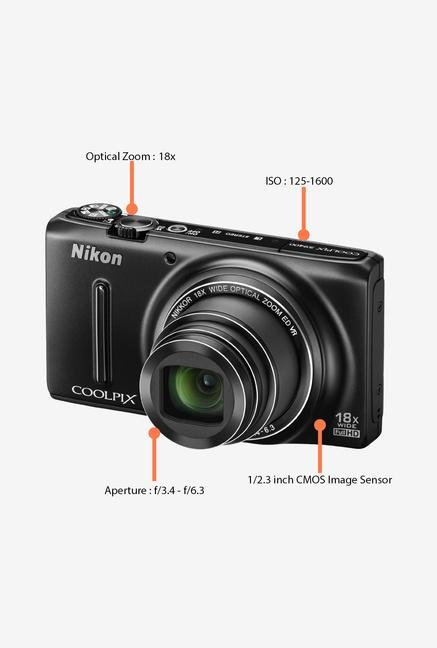 Nikon Coolpix S9400 18.1 MP Digital Camera Black