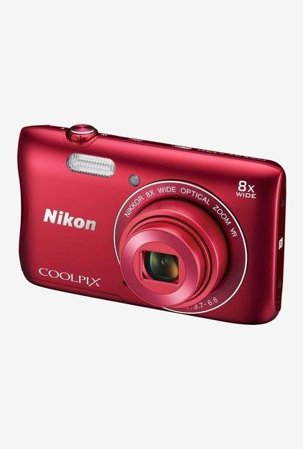 Nikon Coolpix S3700 Point & Shoot Camera Red