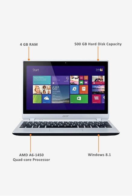 Acer Aspire V5-122P 29.46cm Laptop (AMD A4-1250, 500GB) Grey