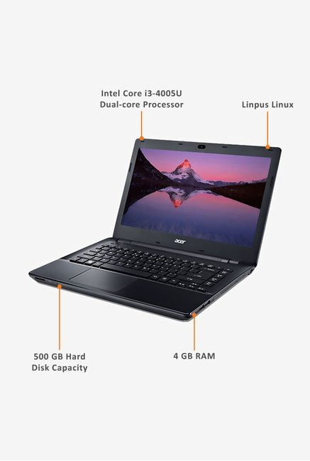 Acer Aspire E5-471 35.56cm Laptop (Intel i3, 500GB) Black