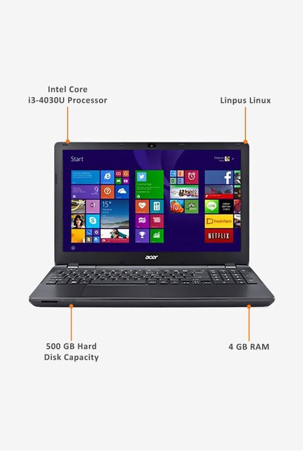 Acer Aspire E5-571 39.62cm Laptop (Intel Core i3, 500GB) Red
