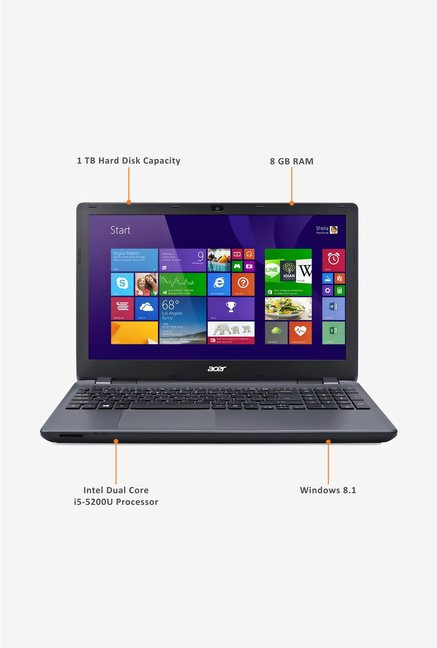 Acer Aspire E5-571 39.62cm Laptop (Intel i5, 500GB) Black