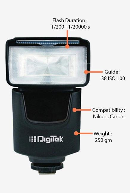 Digitek Speedlight DFL-003 Camera Flash Black