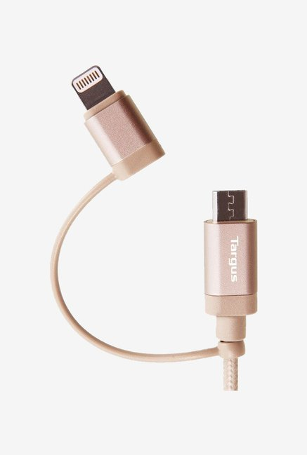 Targus ACC995 2-in-1 Sync and Charge Cable (Gold)