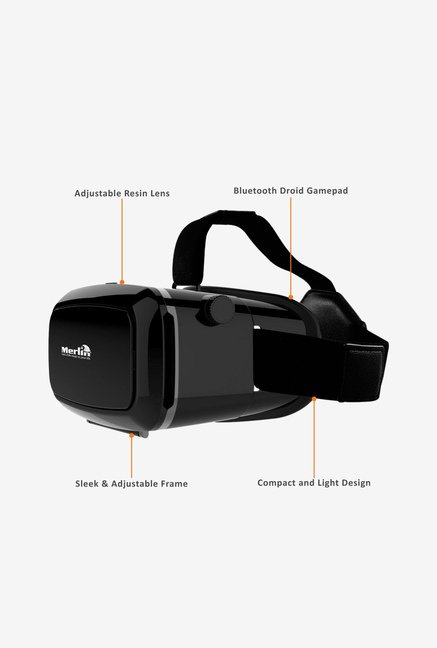 Merlin Immersive 3D Virtual Reality Glass (Black)