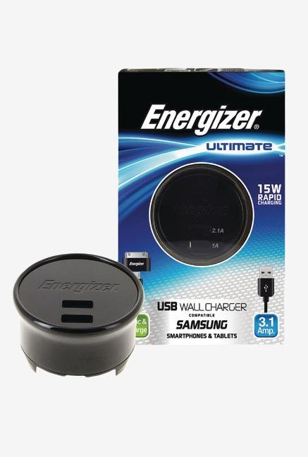 Energizer Ultimate AC2UUNUSM2 Wall Charger Black