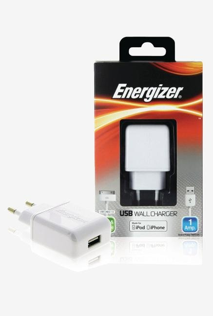 Energizer Classic AC1UEUCIP2 iPhone Wall Charger White