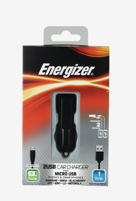 Energizer Classic DC2UCMC2 Car Charger Black