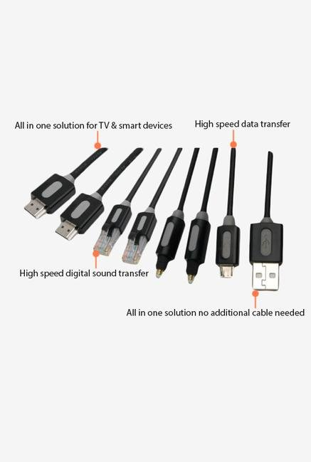 Energizer AIO Cable Kit LCAEHAPKITV15 for Apple TV Black