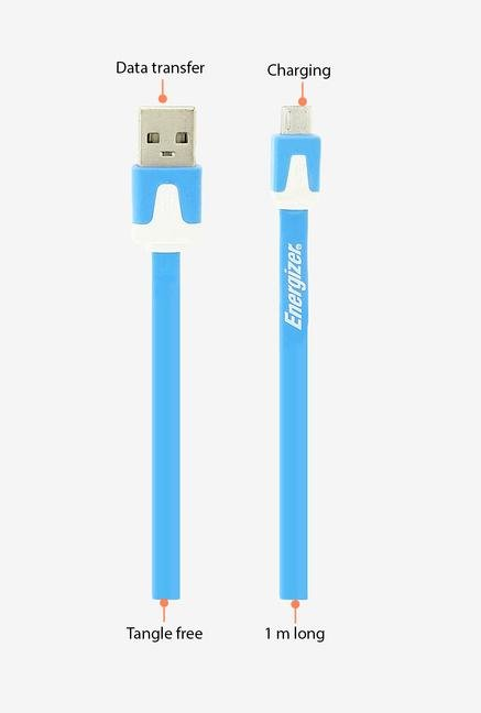 Energizer Hightech Ultra Flat LCAEHUFCMCBL2 USB Cable Blue