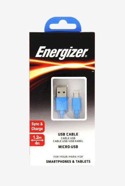 Energizer C12UBMCGBL4 1.2m Micro USB Cable Blue