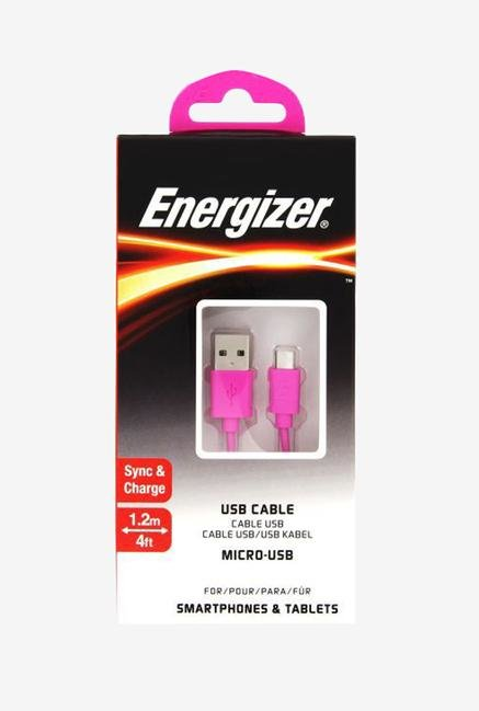 Energizer C12UBMCGPK4 1.2m Micro USB Cable Pink