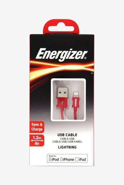 Energizer C11UBLIGRD4 1.2m Lightning Cable Red