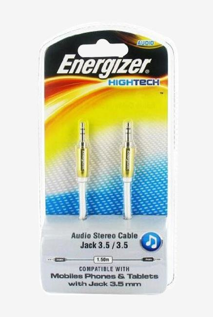 Energizer 1.5m LCAEHJACKYE2 Audio Stereo Cable Yellow