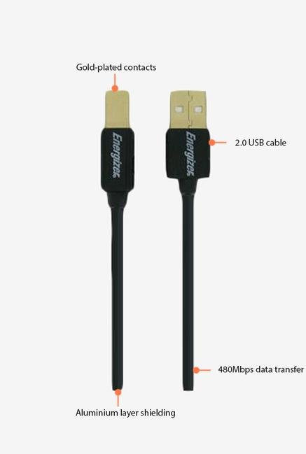 Energizer Classic LCAECUSBAB30 3m USB 2.0 Cable Black
