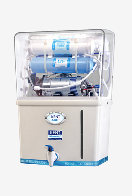 Kent Ace Plus 20L RO+ UF Water Purifier, White