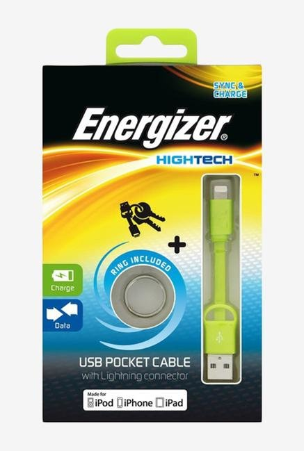 Energizer Mini USB POCKETMCGR2 Pocket Cable Green
