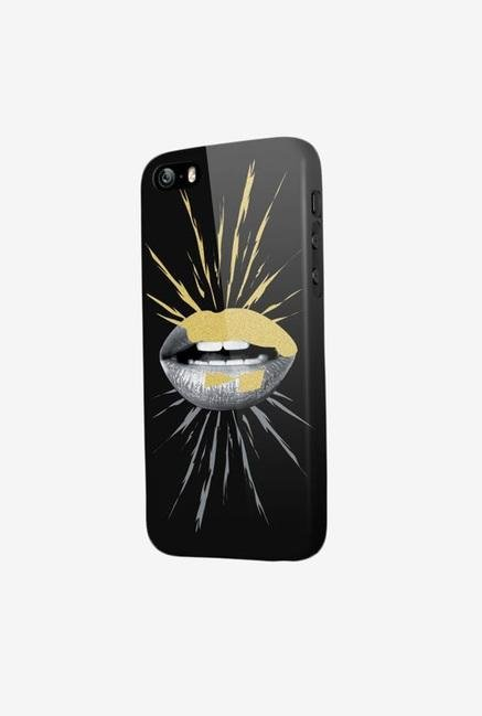 OXO Rock Glam Mouth XCOIP6ROSHG6 iPhone5/5S Hard Case Black