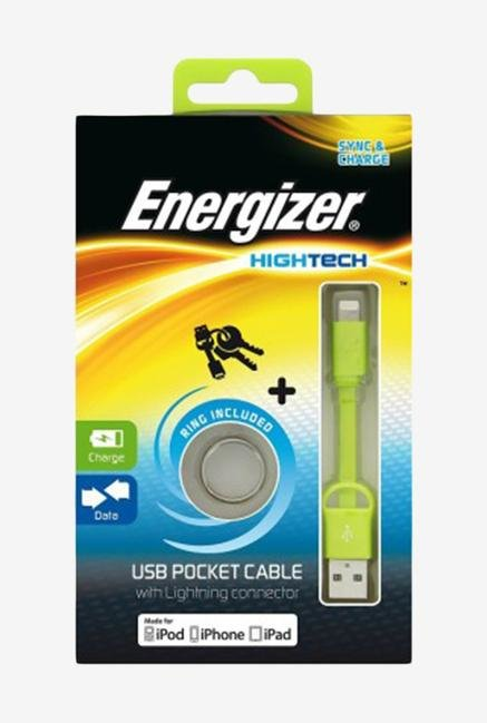 Energizer Lightning POCKETIPGR2 Pocket USB Cable Green
