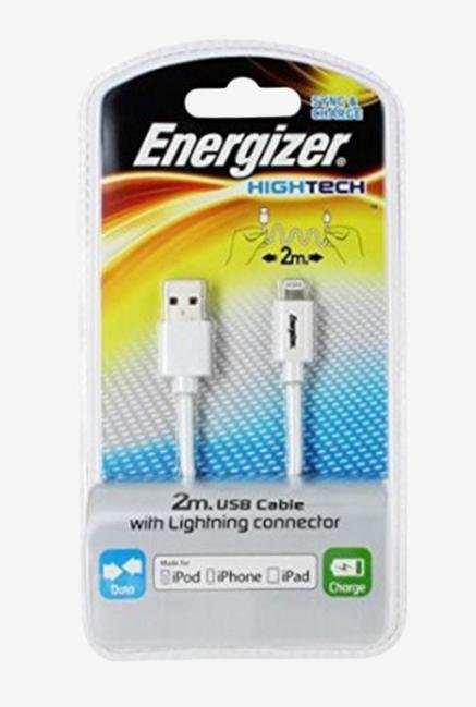 Energizer Hightech iPhone5 LCAEH2MIPWH2 2m USB Cable White