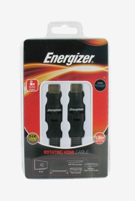 Energizer Classic 1.5m LCAECRHAA15 Rotative HDMI Cable Black
