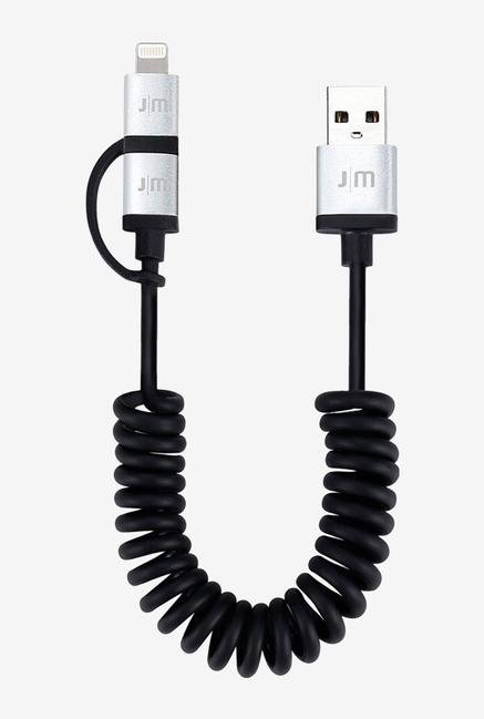Just Mobile AluCable Duo Twist DC-189 Cable Black