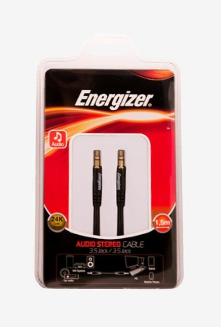 Energizer Classic 1.5m LCAECJACK15 Audio Stereo Cable Black