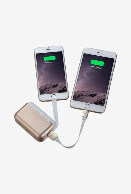 Just Mobile Topgum PP-600GD 6000 mAh Power Bank (Gold)
