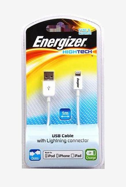 Energizer Hightech iPhone5 LCAEHUSYIPWH2 USB Cable White