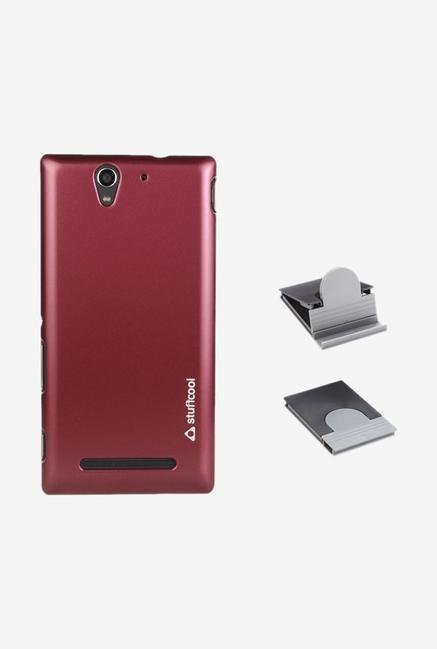 Stuffcool EMSYC3 Back Case for Sony Xperia C3/C3 Dual Red