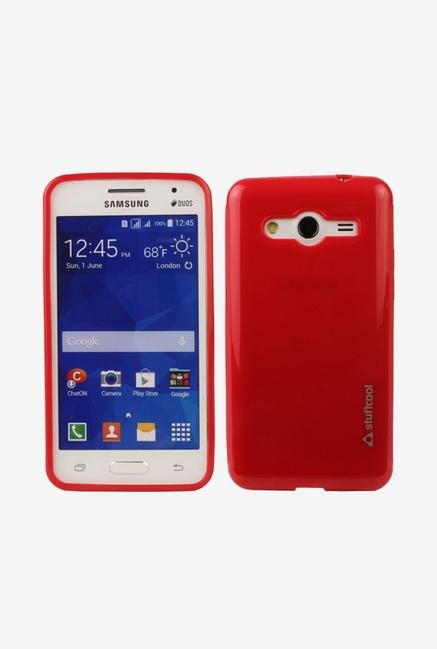 Stuffcool DXSG355 Back Case for Samsung Galaxy Core 2 Red