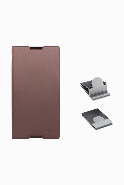 Stuffcool CRSYC3 Flip Cover for Sony Xperia C3/C3 Dual Brown
