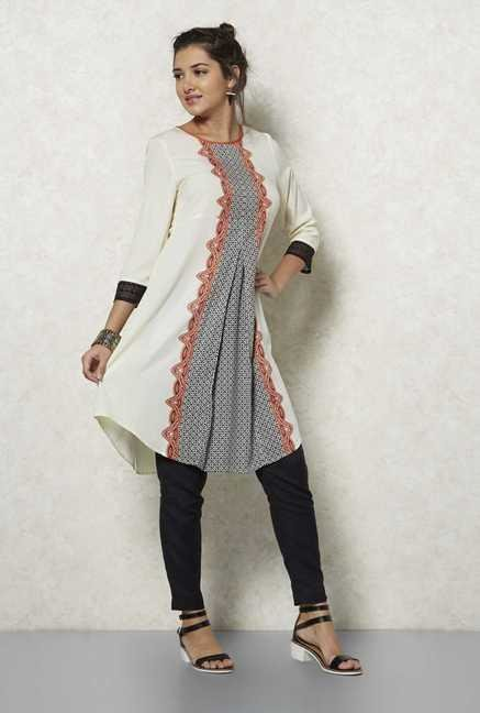 Fusion Beats Cream Zina Tunic