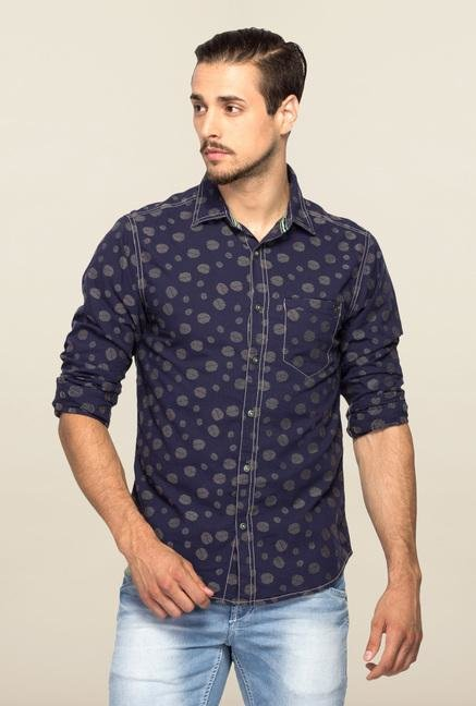 Spykar Blue Ranger Printed Casual Shirt