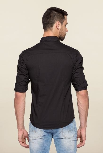 Spykar Black Ranger Full Sleeves Slim Fit Shirt