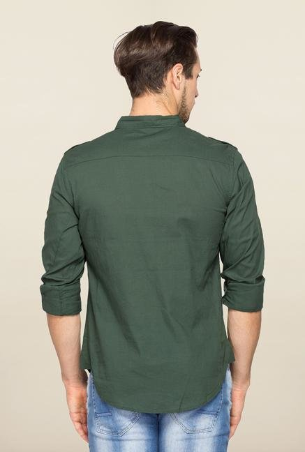 Spykar Green Ranger Slim Fit Casual Shirt