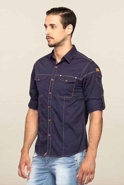 Spykar Blue Ranger Full Sleeves Casual Shirt