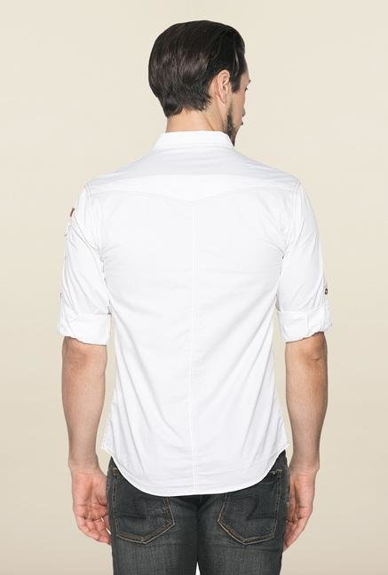Spykar White Ranger Full Sleeves Casual Shirt