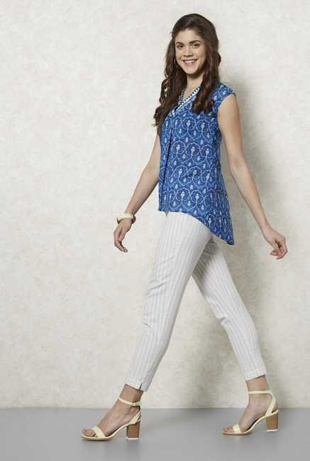 Fusion Beats Indigo Sara High Low Top