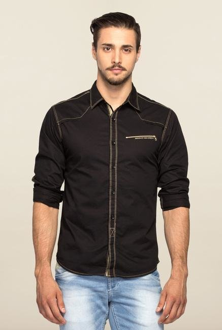 Spykar Black Ranger Slim Fit Casual Shirt