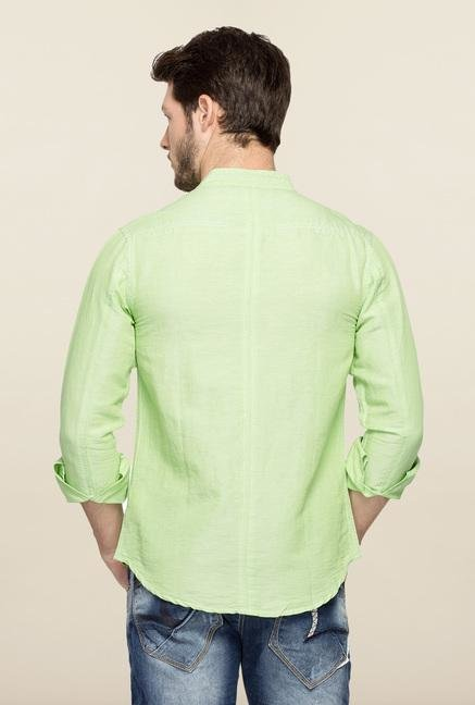 Spykar Green Ranger Cotton Casual Shirt