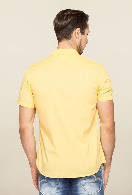 Spykar Yellow Ranger Cotton Slim Fit Shirt