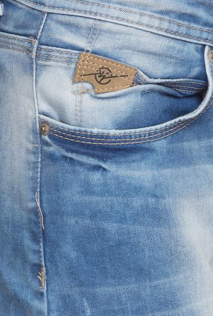 Spykar Blue Lightly Wash Jeans
