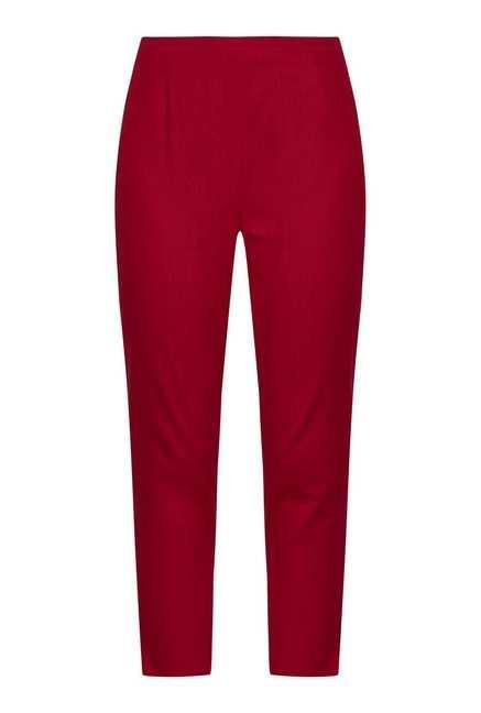 Fusion Beats Red Cotton Trousers