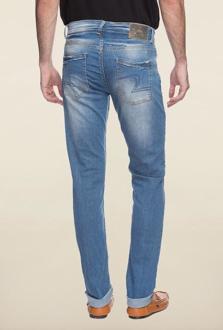 Spykar Sky Blue Denim Jeans